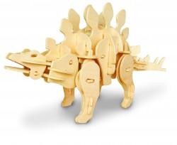 Дървен 3D конструктор - Стегозавър - 71 части