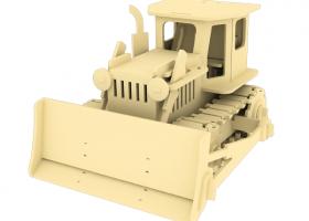 Дървен 3D конструктор - Булдозер - 179 части