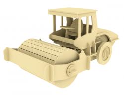 Дървен 3D конструктор - Валяк - 78 части