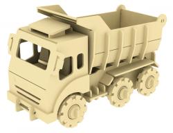 Дървен 3D конструктор - Самосвал - 88 части
