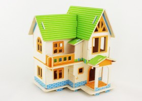 3D дървен пъзел European House