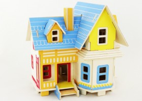 3D дървен пъзел Flying House
